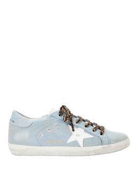 Superstar Blue Denim Low Top Sneakers by Golden Goose