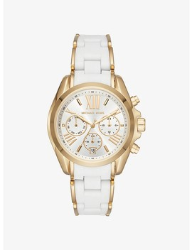 Bradshaw Gold Tone And Silicone Watch by Michael Kors