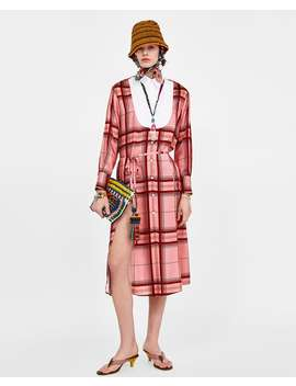 Contrast Check Dress  View All Dresses Woman by Zara