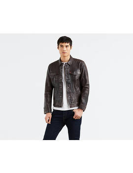 Leather Trucker Jacket by Levi's