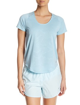 Textured Scoop Neck Tee by Nike