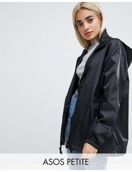 Asos Petite Rain Jacket With Fanny Pack by Asos Petite