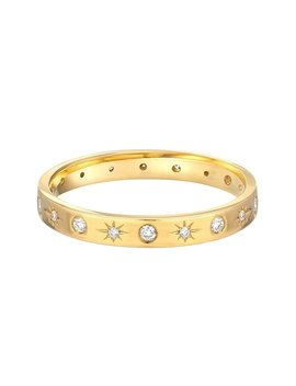Diamond Starburst Ring, 14k Solid Gold by Amazon