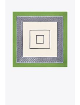 Octagon Silk Square Scarf by Tory Burch