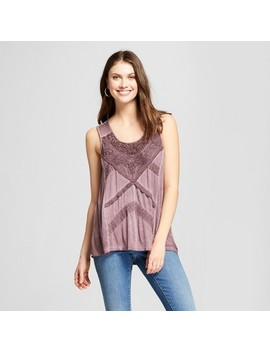 Women's Lace Oil Wash Tank   Knox Rose™ Purple by Knox Rose™