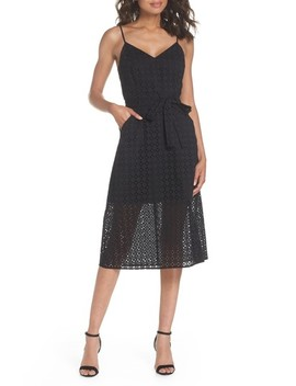 Shutters Sunsets Cotton Eyelet Midi Dress by Ali & Jay