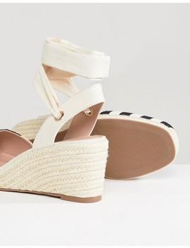 Miss Selfridge Stripe Espadrille Wedge Heel Sandals by Miss Selfridge