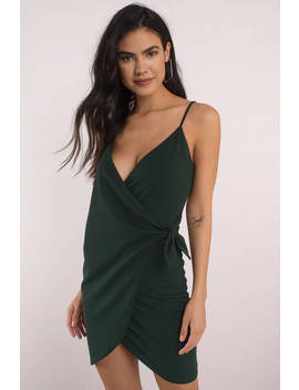 Emerald City Emerald Wrap Bodycon Dress by Tobi