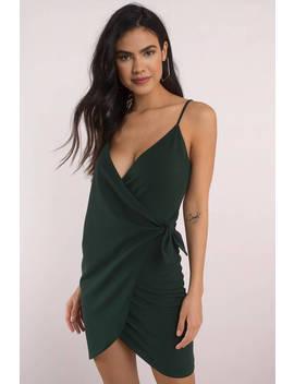 Emerald City Emerald Wrap Bodycon Dress by Tobi