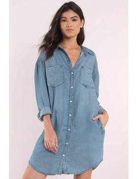 Thread & Supply West Coast Light Wash Denim Button Down Shirt by Tobi