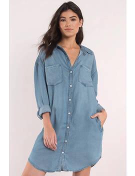 Thread & Supply West Coast Light Wash Denim Button Down Shirt by Tobi