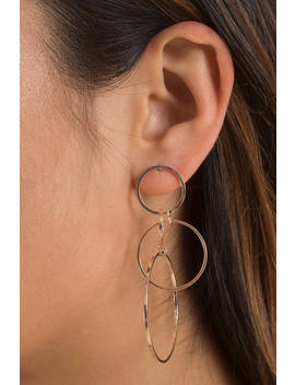 Love Intertwined Rose Gold Earrings by Tobi