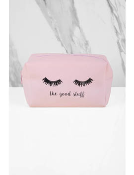 The Good Stuff Pink Makeup Bag by Tobi