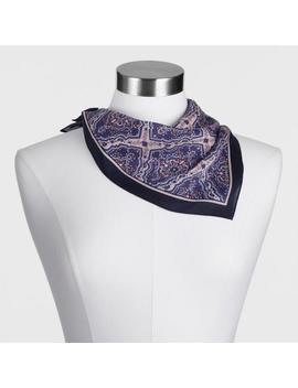 Purple Paisley Silk Blend Kerchief Scarf by World Market