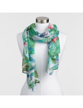 Tropical Palm Print Scarf by World Market