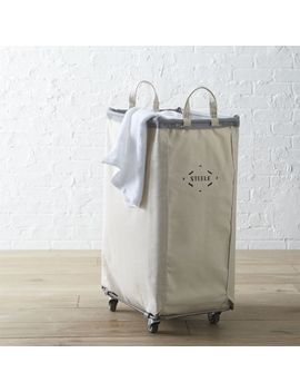 Steele ® Vertical Canvas Laundry Bin by Crate&Barrel
