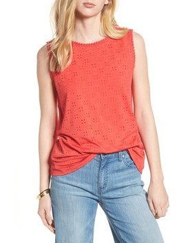 Eyelet Knit Tank by Halogen®