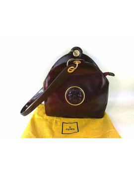 Fendi Vintage Bag From The Janus Series Karl Lagerfeld 1980 Collection Collection Bag Bordeaux by Etsy