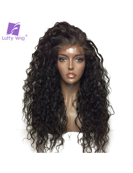 Luffy Curly Deep Parting 13x6 Lace Front Human Hair Wigs With Baby Hair Malaysian Non Remy Hair Natural Color With 130% Density by Luffy