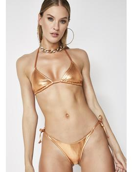 Money Up Metallic Bikini Set by Poster Grl