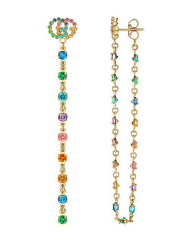 18k Gg Running Long Pendant Earrings by Gucci
