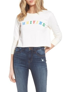 Thriving Crop Sweatshirt by Desert Dreamer
