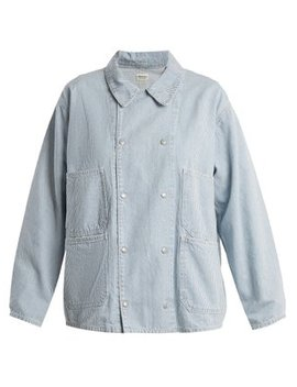 Oversized Patch Pocket Denim Jacket by Chimala