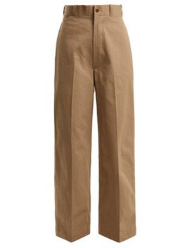 Military Cotton Chino Trousers by Chimala