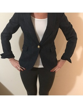 Zara Navy Blue Wool Blazer by Zara