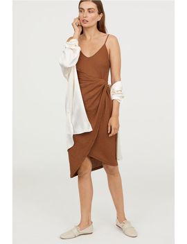 Draperad Omlottklänning by H&M