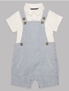 2 Piece Bodysuit & Dungaree Outfit by Marks & Spencer