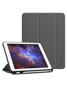 Fintie I Pad 9.7 2018 Case With Built In Apple Pencil Holder   [Slim Shell] Lightweight Soft Tpu Back Protective Stand Cover With Auto Wake/Sleep For Apple I Pad 2018 9.7 Inch (6th Gen), Marble by Fintie