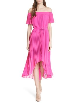 Melli Off The Shoulder Pleat Dress by Ted Baker London