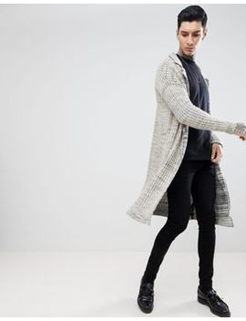 Asos Design Textured Duster Jacket In Oatmeal Slub by Asos Design