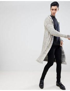 Asos Design Textured Duster Jacket In Oatmeal Slub by Asos Design
