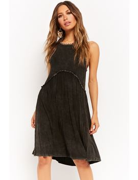 Mineral Wash Sleeveless Dress by F21 Contemporary