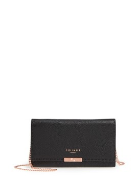 Janet Leather Crossbody Matinée Wallet On A Chain by Ted Baker London