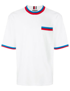 Striped Detail T Shirt by Tommy Hilfiger