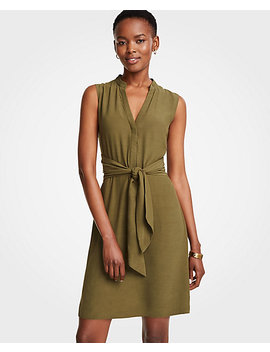 Tie Front Shirtdress by Ann Taylor