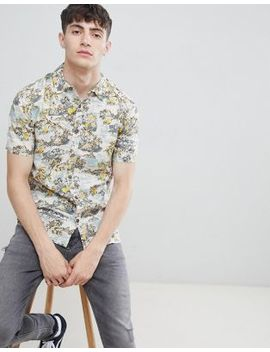 D Struct Tropical Print Short Sleeve Shirt by Shirt