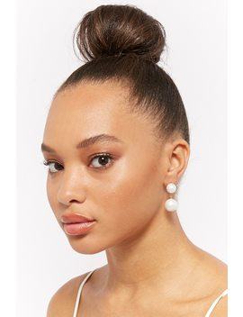 Tiered Faux Pearl Drop Earrings by F21 Contemporary