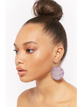 Iridescent Circle Drop Earrings by F21 Contemporary