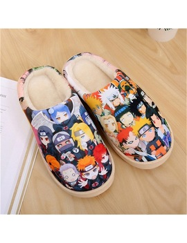 Drop Ship Anime Cosplay Shoes Naruto Akatsuki Gintama Dragon Ball One Piece Warm Shoes Plush Antiskid Home Slippers Men Women by Luogen
