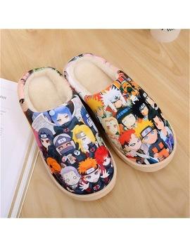 Drop Ship Anime Cosplay Shoes Naruto Akatsuki Gintama Dragon Ball One Piece Warm Shoes Plush Antiskid Home Slippers Men Women by Luogen