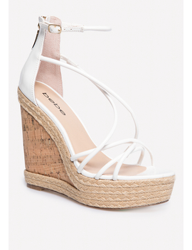 Mayaa Metallic Cork Wedges by Bebe
