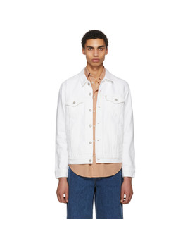 White Denim Steel Hour Trucker Jacket by Levi's