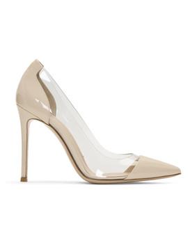Off White Patent & Pvc Plexi Heels by Gianvito Rossi