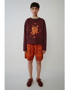 Yoga Crewneck Bordeaux by Acne Studios