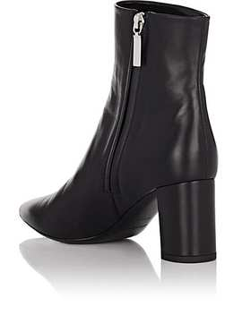 Betty Leather Ankle Boots by Saint Laurent