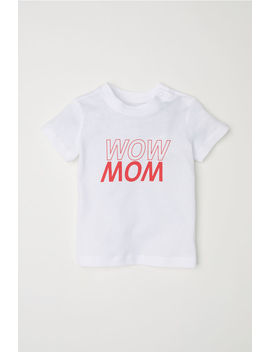T Shirt With Printed Text by H&M